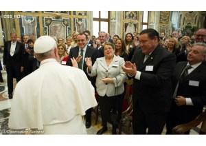 Papa com os Diretores das Ordens dos Médicos da Espanha e América Latina - OSS_ROM