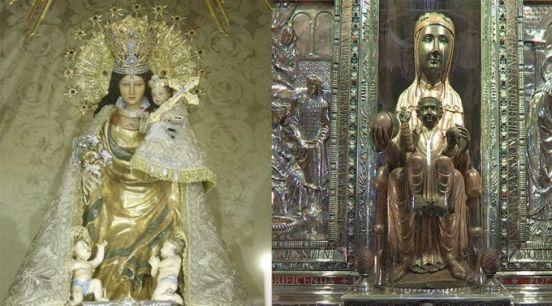 Imagem da Virgem profanada na Espanha para convocar uma Parada Gay 14.06.16