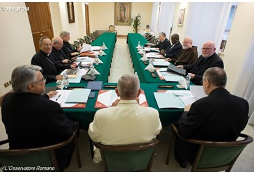 Papa Francisco reunido com o C9 até quarta-feira 08.06.16