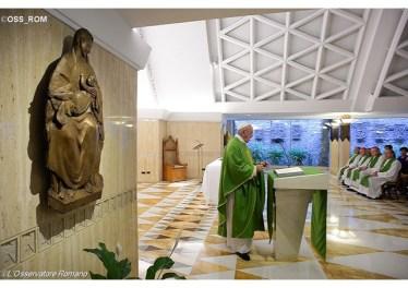 Papa não à espiritualidade do espelho, o cristão seja luz para todos 07.06.16