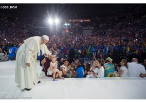 Papa Francisco durante JMJ de Cracóvia, na Polônia - OSS_ROM