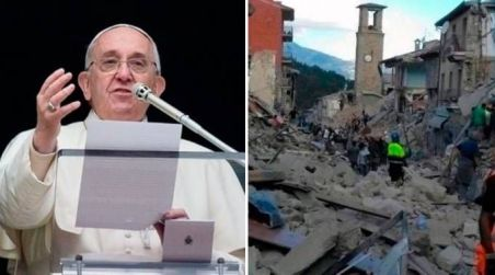 Papa promete ir à região do terremoto para levar consolo e esperança cristã 30.08.16