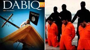 Revista Dabiq do Estado Islâmico - cristãos decapitados pelo ISIS em fevereiro de 2015