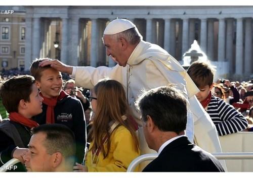 Papa Francisco na Audiência de 12 de outubro - AFP