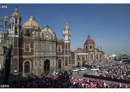 Santuário de Nossa Senhora de Guadalupe, em Cidade do Máxico - EPA