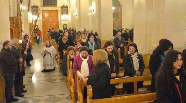 Cristãos da paróquia São Francisco em Aleppo / Foto: Facebook Ajuda à Igreja que Sofre