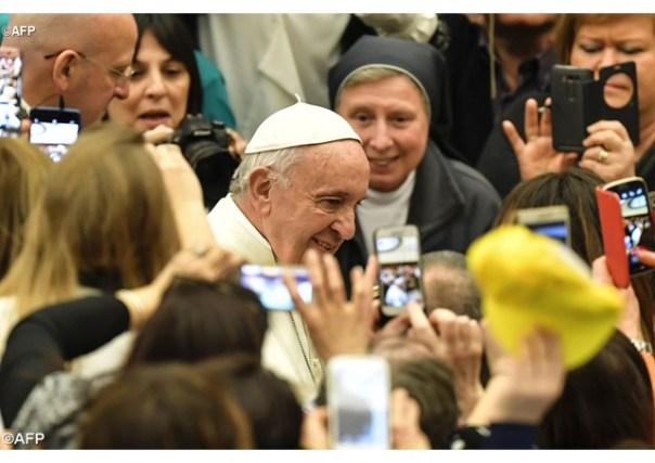 Papa Francisco na Audiência Geral desta quarta-feira - AFP