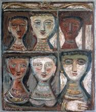 Campigli, Massimo, 1895-1971; Six Women